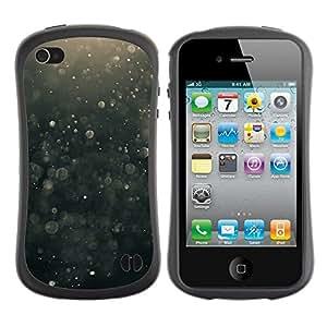 LASTONE PHONE CASE / Suave Silicona Caso Carcasa de Caucho Funda para Apple Iphone 4 / 4S / Suspension Black Bubbles Hope