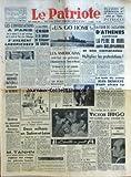 PATRIOTE (LE) [No 2314] du 20/03/1952 - LES CONVERSATIONS A PARIS SUR LA REPONSE A LA NOTE SOVIETIQUE SUR LE TRAITE DE PAIX AVEC L'ALLEMAGNE S'AVERENT LABORIEUSES - AUJOURD'HUI JOURNEE NATIONALE REVENDICATIVE DU BATIMENT - GREVE DES COMMERCANTS DE SOUSSE MANIFESTATIONS D'ETUDIANTS A TUNIS - M TANHN ANCIEN PREMIER MINISTRE DU CAMBODGE REJOINT LES RANGS DES PATRIOTES ISSARAKS - LE PLAN PINAY CRIER A LA BAISSE ET BLOQUER LES SALAIRES - LA SOUSCRIPTION POUR LA PRESSE DEMOCRATIQUE DEUX MILLIONS EN S
