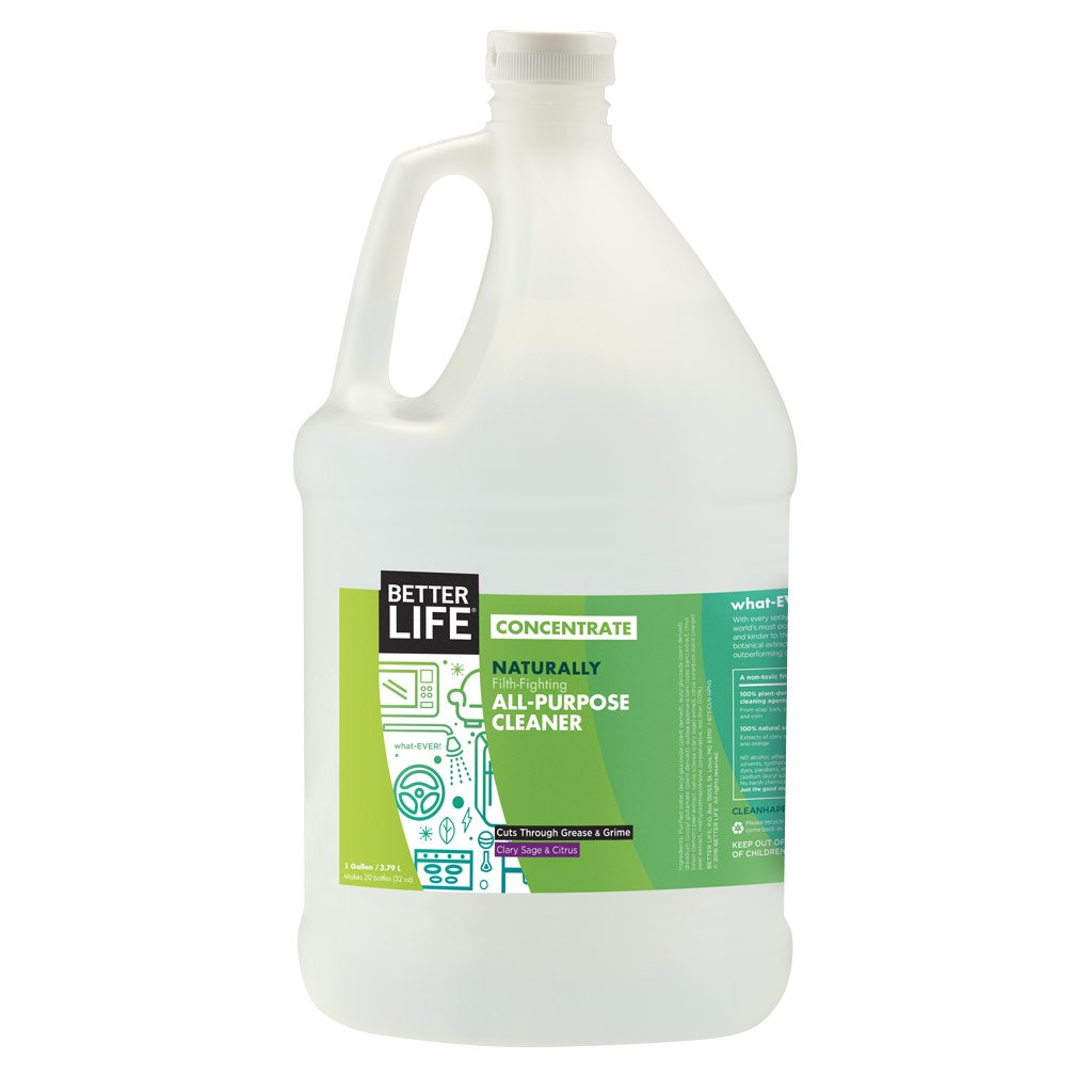 Better Life Natural All Purpose Cleaner Concentrate, Clary Sage & Citrus, 128 Ounces, 2409H