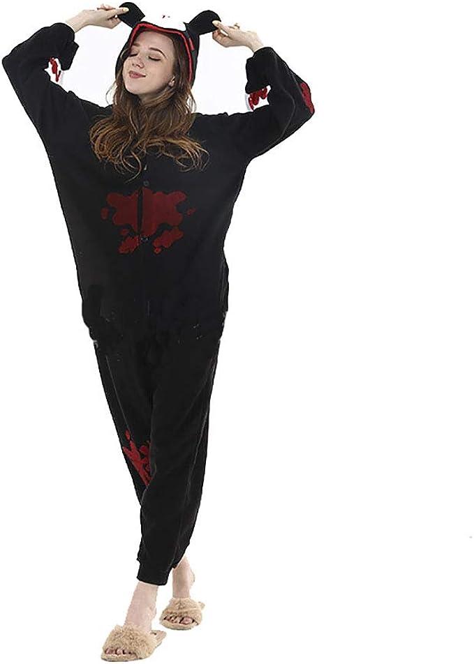 Gloomy Bear Kigurumi Unisex Pyjamas Black Pink 1nesies Fleece Cartoon christamas