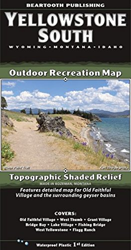 Publishing Scales - Beartooth Publishing Yellowstone South Waterproof Outdoor Recreational Map