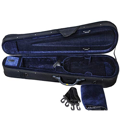 ADM 4/4 Full Size Violin Hard Case Basic Professional Triangular Shape Backpack, Super Light Suspension, Black