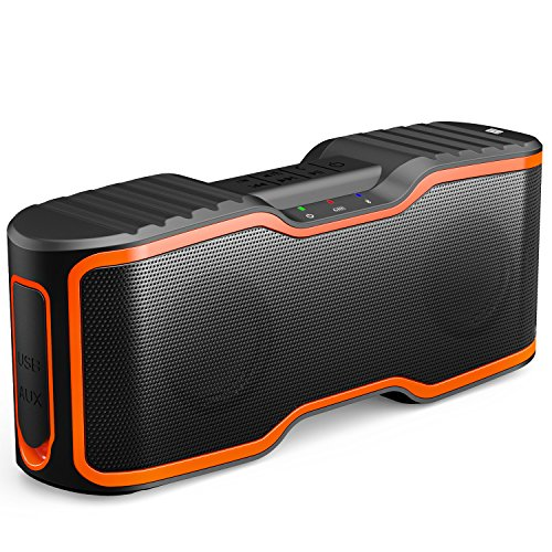 AOMAIS Sport II Portable Wireless Bluetooth Speakers 4.0 with Waterproof IPX7,20W Bass Sound,Stereo Pairing,Durable Design for iPhone /iPod/iPad/Phones/Tablet/Echo dot,Good Gift(Orange) - Wireless Car Bluetooth Speaker