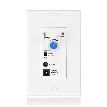 pared Bluetooth Receptor de audio inalámbrico de música Adapter + Amplificador estéreo placa de pared con