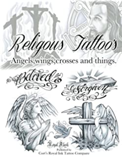 Amazon Com Religious Sketchbook 1 Tattoo Design Flash Book By