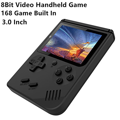 H&ZT Craft Handheld Game Console, 3 inch 168 FC Classic Video Game Console Retro Game Console for Children Gift( Include 1 USB Charge) by H&ZT Craft