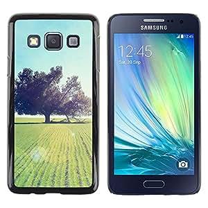 Smartphone Rígido Protección única Imagen Carcasa Funda Tapa Skin Case Para Samsung Galaxy A3 SM-A300 Nature Beautiful Forrest Green 93 / STRONG