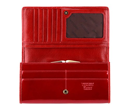 Collection 25 Wittchen Verona 10x19 Wallet Patent 1 Leather Red 075 Dimension 3 wxqgOAYx