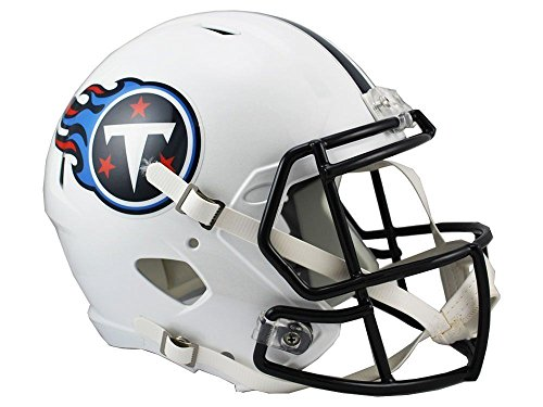 Riddell NFL Tennessee Titans Full Size Replica Speed Helmet, Medium, - Helmet Tennessee Replica Mini