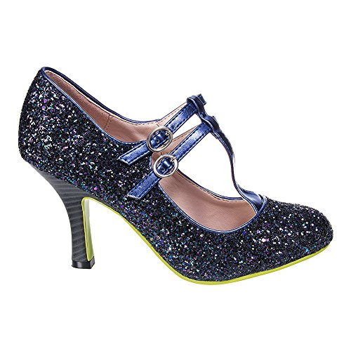 Tacones Banned Sound & Vision Glitter (Azul) Azul