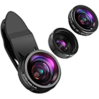 KeeKit Cell Phone Camera Lens Kit, 3-IN-1 Phone Lens with...