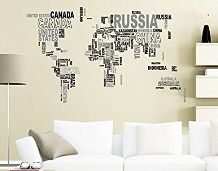 Cuagetm nation name country names world map decorative sticker cuagetm nation name country names world map decorative sticker decal in words gumiabroncs Image collections
