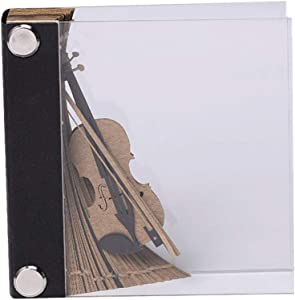 HMANE 3D Sticker Notes Memo Pads DIY Art Building Block Paper Carving Stick Note Creative Post notes - Violin