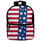 Ameriacan Flag Unisex Lightweight Printing Shoulders Kid' Bag With Zipper For Small Girl School Kindergarten Backpacks