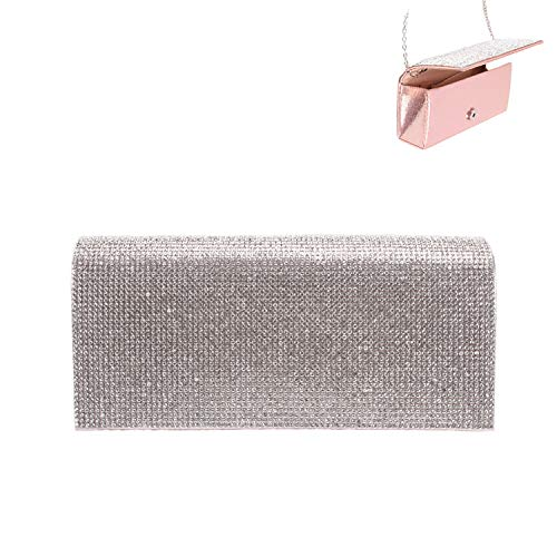 Elegant Evening Multi Use Purse Clutch with Magnetic Closure in Gold Clear