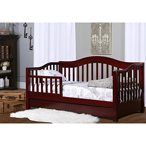 Dream On Me Toddler Day Bed with Storage Drawer, Cherry