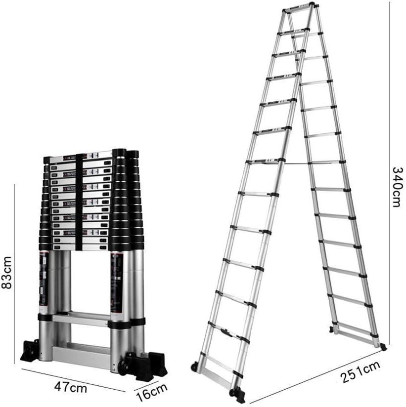 CMXSC Paso Escalera telescópica Taburete Plegable Escalera, Escalera de aleación de Aluminio Plegable portátil Espiga Multi-función de elevación Adecuado for el hogar Escalada Trabajo Pesado Escalera: Amazon.es: Hogar