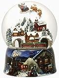 Musical & Animated Victorian Christmas Village Snow Globe Glitterdome