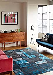 Turquoise 5\'2x7\'2 Area Rug Modern Carpet Large New