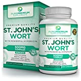 Cheap Premium St Johns Wort Supplement by PurePremium | Natural Mood Enhancer with Powerful Hypericin | Support Mental Health & Promote Emotional Well-Being | Non-GMO & Gluten-Free | 100 Caps