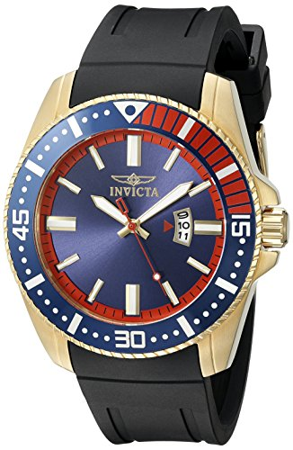 Invicta Men's 21447 Pro Diver Analog Display Japanese Quartz Black Watch - Invicta Bezel