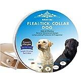 Dog Flea Treatment Collar - Nakital Flea And Tick Collar Prevention for Dogs Control,Flea Collars for Dogs Adjustable Collar Large Small Dog
