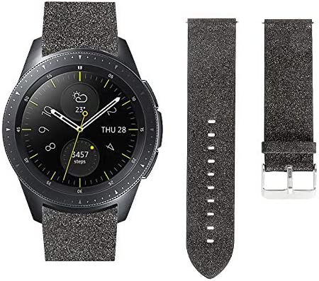 AKOPUGA - Correa de Piel Brillante para Samsung Galaxy Watch 42 mm ...