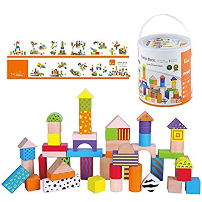 The Original Toy Company 50 Wooden Blocks Tub: Toys & Games