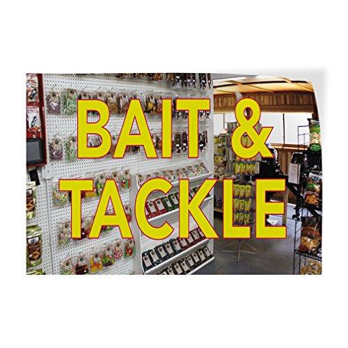 Bait & Tackle #1 Indoor Store Sign Vinyl Decal Sticker - 19.5inx48in,