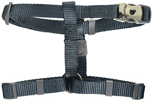 Petmate 10233 Signature Deluxe Harness, 5/8-Inch by 12-20-Inch, Pewter