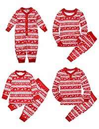 BESBOMIG Matching Family Pajamas for Christmas - Homewear Outfit Kid Boys Girls Adult