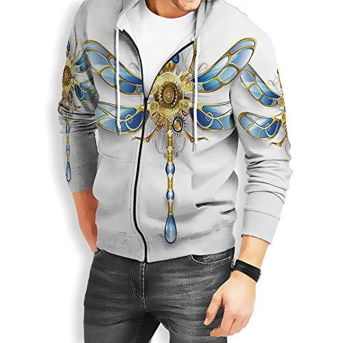 - Coaballa Men's Full-Zip Dragonfly Hoodie