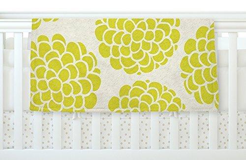 KESS InHouse Pom Graphic Design Grape Blossoms Yellow Circles Fleece Baby Blanket 40 x 30 [並行輸入品]   B077ZTXJG6
