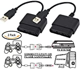 MEW 2 Pcs Controller Adapter for PlayStation 2 to