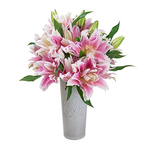 Pink & White Lily Bouquet - The Bouqs Co.