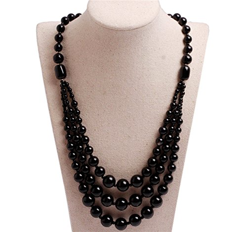 8mm Black Agate Necklace - 4