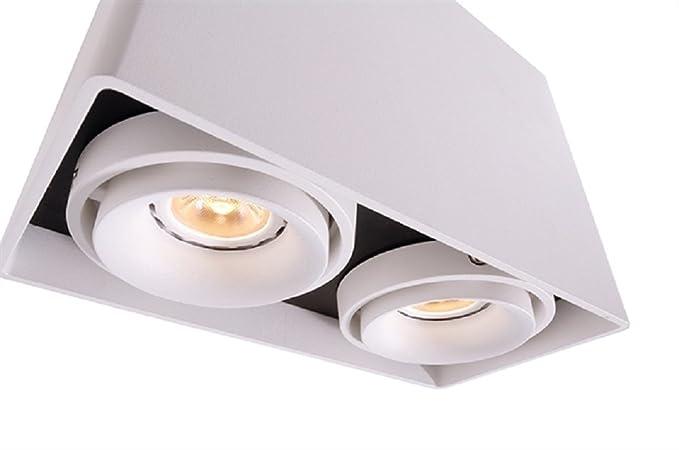 de luz 14 a directa Techo Foco Lámpara LED doble orientable Ok8Pn0wX