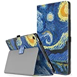 """TiMOVO All-New Fire HD 10 2017 Case (7th Generation, 2017 Release) - Smart Cover Slim Folding Stand Case with Auto Wake/Sleep Function for Amazon Fire HD 10 Tablet 10.1"""", Starry Night"""