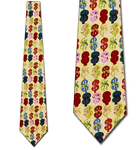 igns Yellow Tie - Men's Novelty Necktie ()