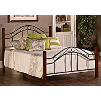 Hillsdale Matson Collection Bed Set with Frame, Queen, Cherry/Black