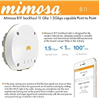 Mimosa B11 MIMO 4X4:4ac Backhaul Point-to-Point, 10,000-11,700 MHz, high speed up to 1.5 Gbps, Connectorized
