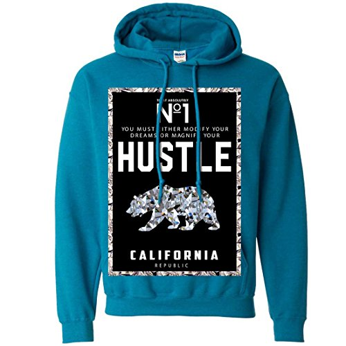 California Republic No. 1 Diamond Hustle Sweatshirt Hoodie - Antique Sapphire Large