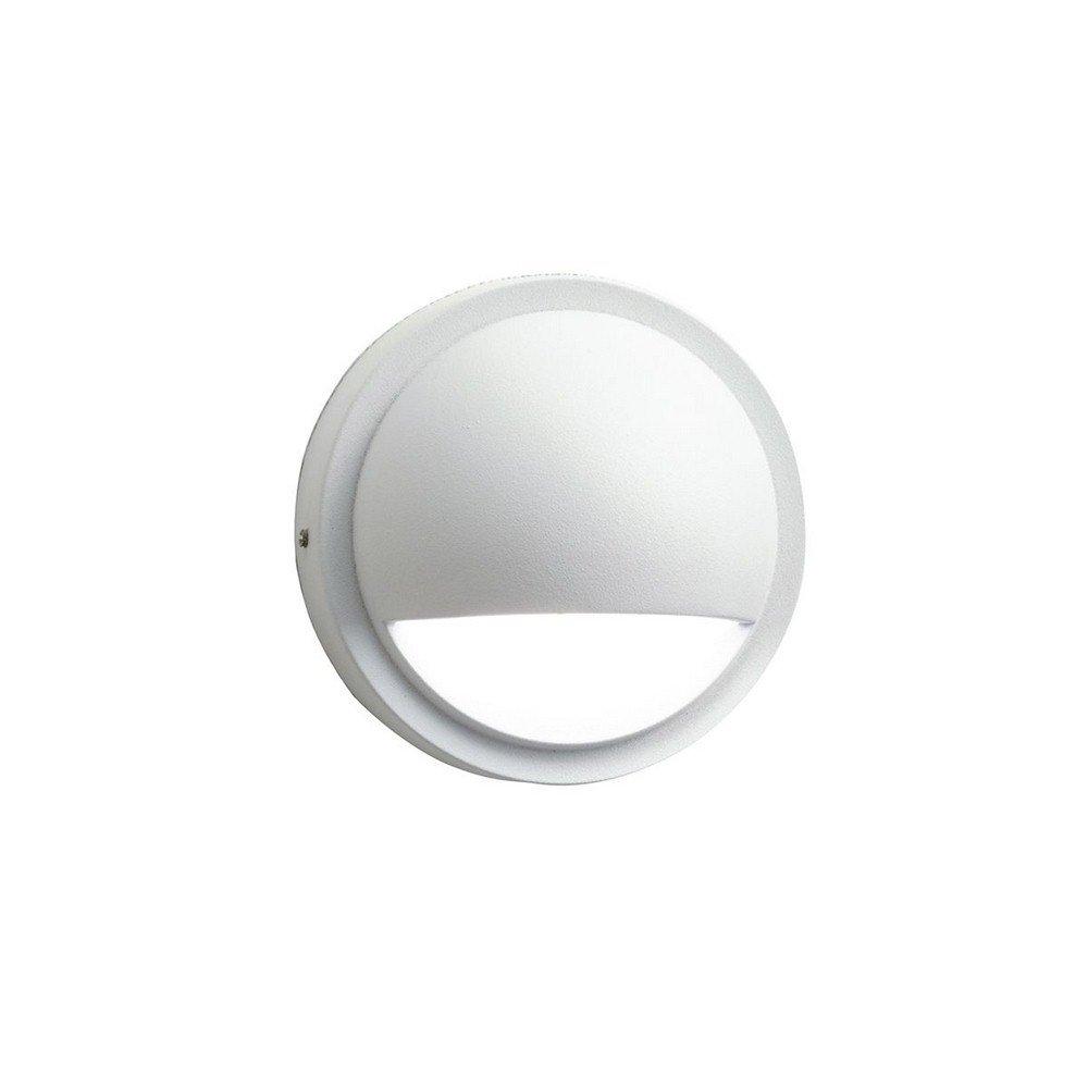 Kichler 15764WHT30R Half Moon LED Deck Light