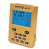 Multifunction Azan Alarm Clock Muslim Prayer Reminder Alarm (Gold)
