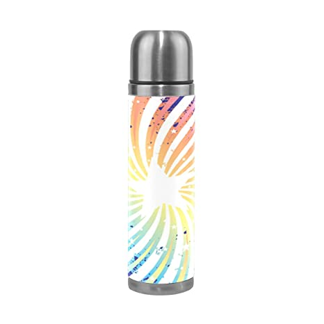 Amazon.com: ALAZA Rainbow Star botella de agua aspiradora de ...
