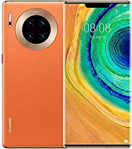 Huawei Mate 30 Pro 5G Smartphone, 6.53-Inch, 256GB, 8GB, Vegan Leather Orange