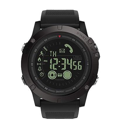 Asiproper Zeblaze VIBE3 Smartwatch Reloj Inteligente Bluetooth Pulsera Podómetro para iOS y Android, Práctico y cómodo (Rojo)