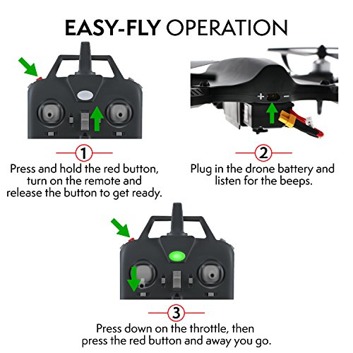 """51m0mCJTS9L - GoPro Compatible HD Camera Drone - """"Force1 F100"""" Brushless Motor Drone for Beginners and Pros Extends Drones Flight Time (Camera Not Included)"""