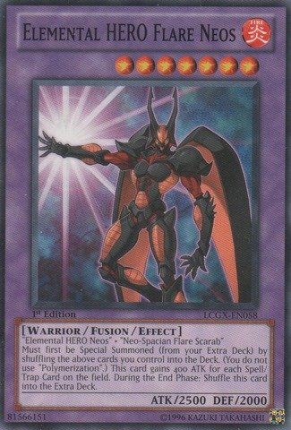 Yu-Gi-Oh! - Elemental HERO Flare Neos (LCGX-EN058) - Legendary Collection 2 - Unlimited Edition - Common