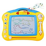 Akokie Magnetic Drawing Board Doodle Writing Scribble Drawing Board Game with Music Colorful Shine for Kids 3 4 5 Years Old
